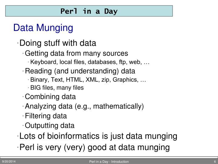 Data Munging