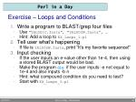 exercise loops and conditions