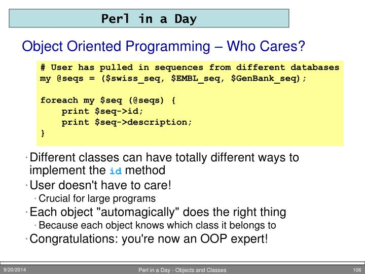 Object Oriented Programming – Who Cares?