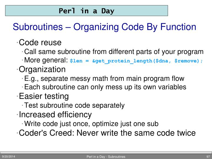 Subroutines – Organizing Code By Function