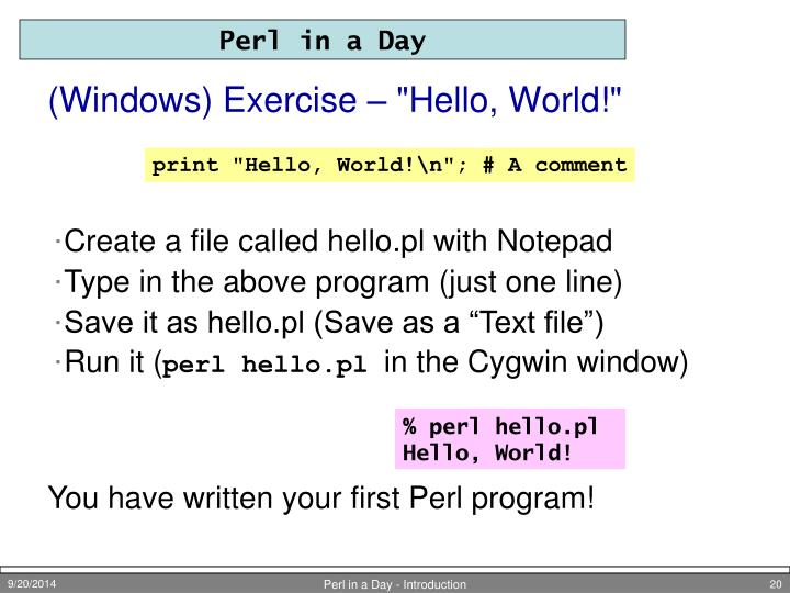 "(Windows) Exercise – ""Hello, World!"""