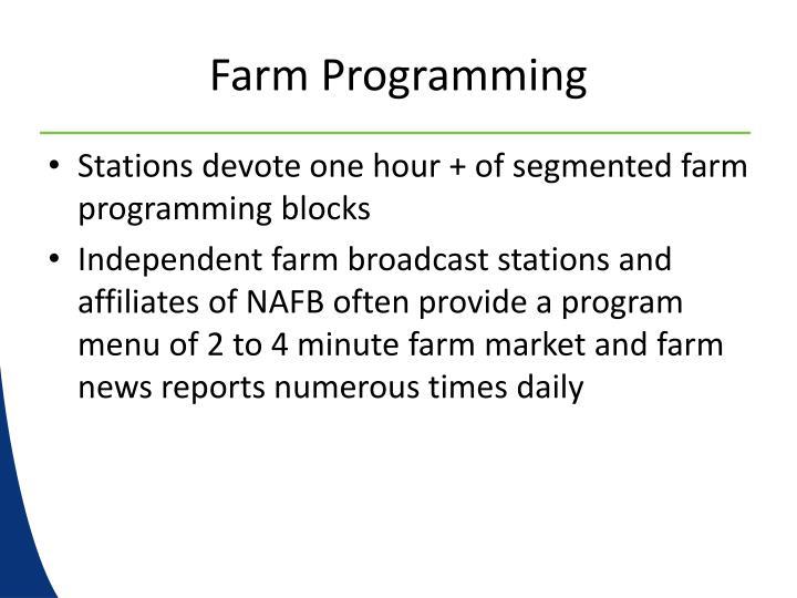 Farm Programming