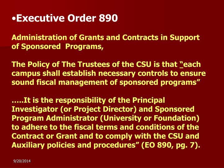 Executive Order 890