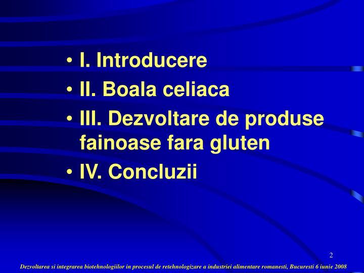I. Introducere