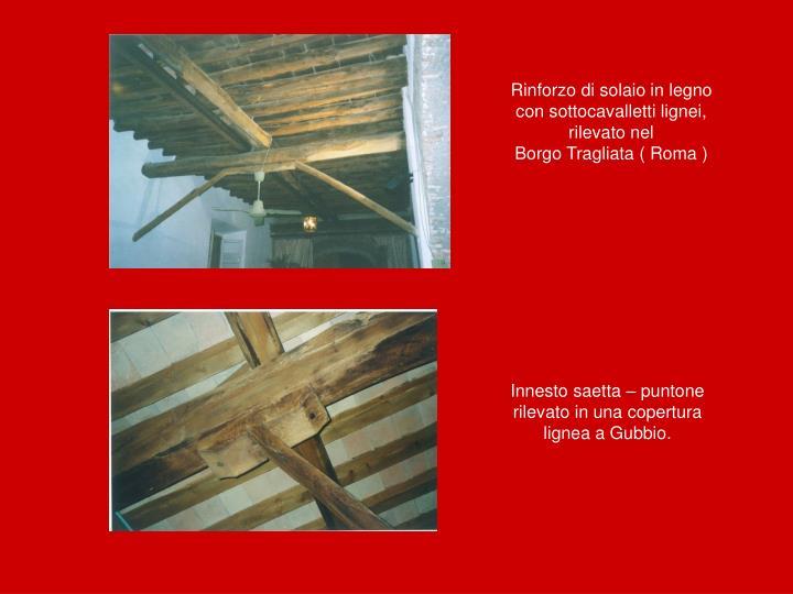 Rinforzo di solaio in legno