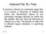 indexed file b tree