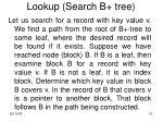 lookup search b tree