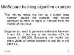 midsquare hashing algorithm example