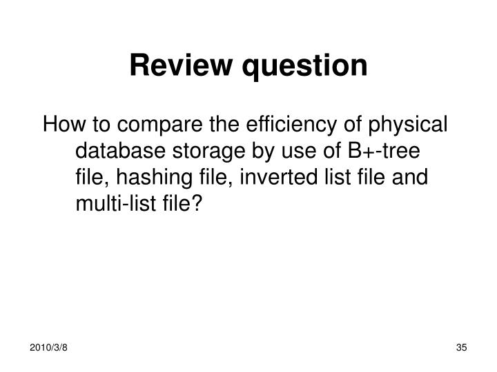Review question