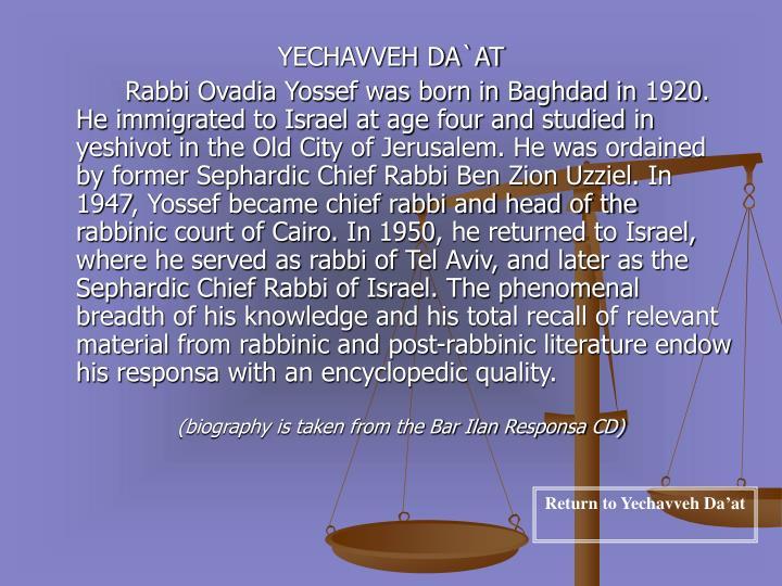 YECHAVVEH DA`AT