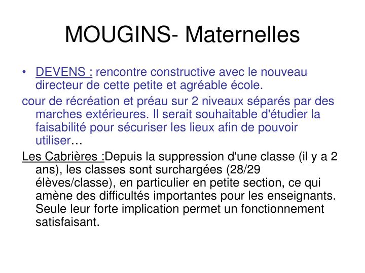 MOUGINS- Maternelles