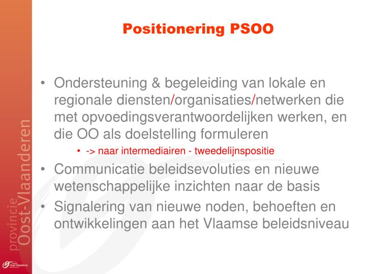 Positionering PSOO