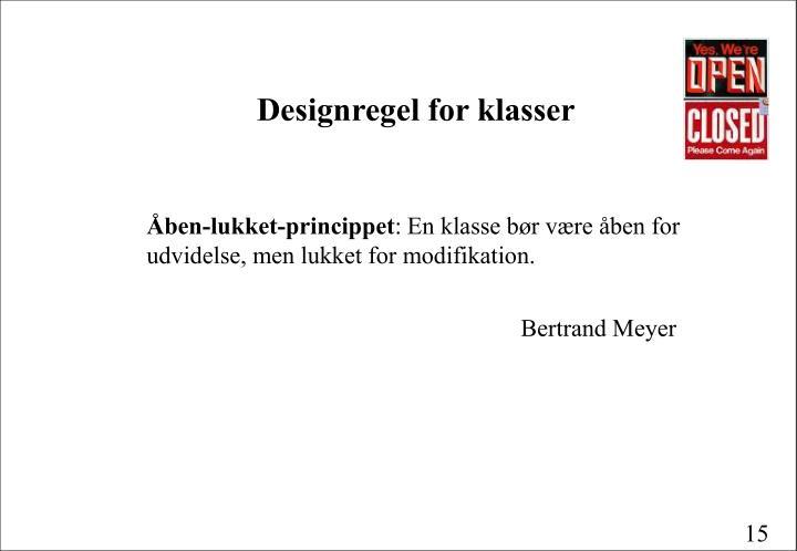 Designregel for klasser