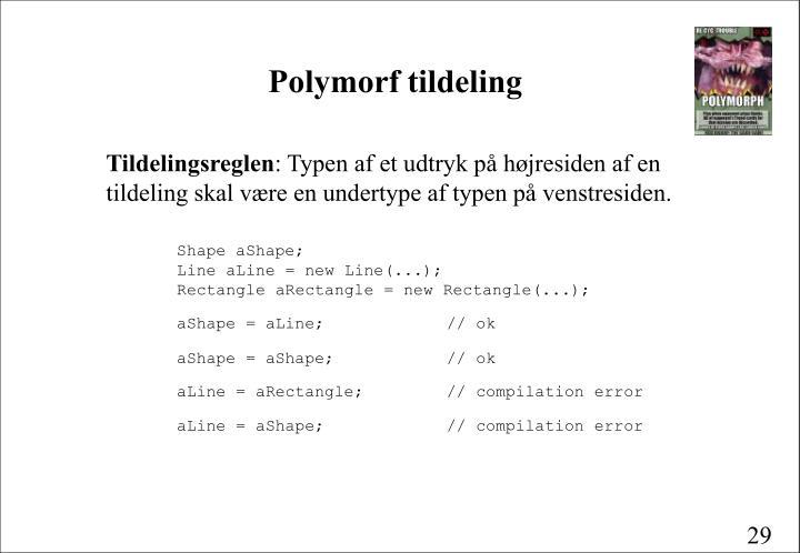 Polymorf tildeling