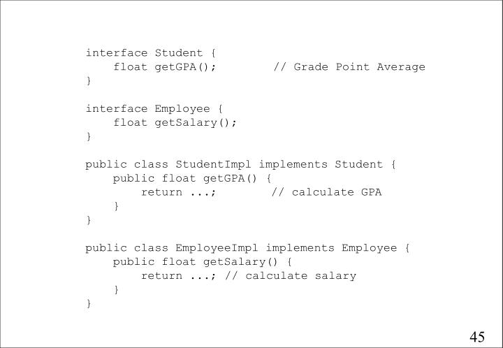 interface Student {