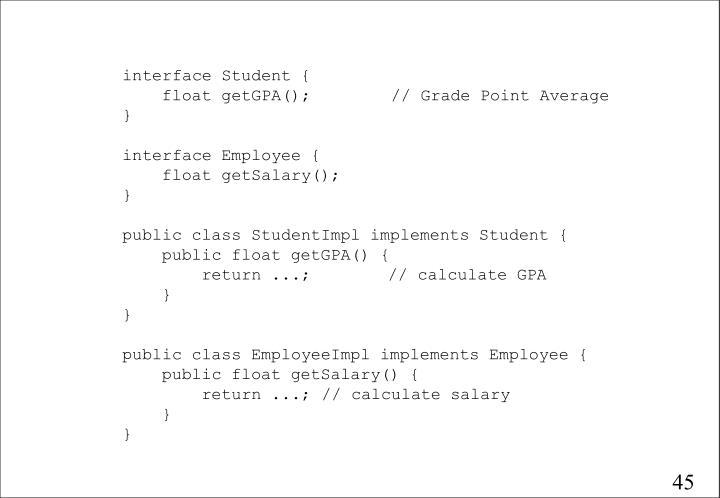 interface Student {