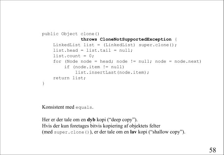public Object clone()
