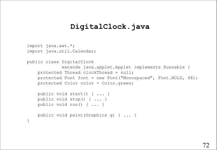 DigitalClock.java