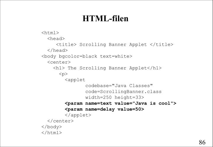 HTML-filen