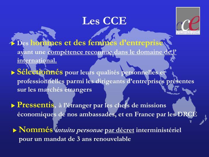 Les CCE