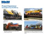 project experience heavy machinery o g mining2