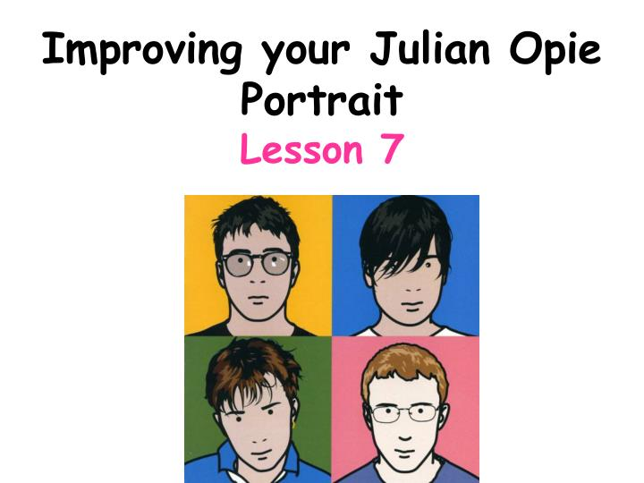 Improving your Julian Opie Portrait