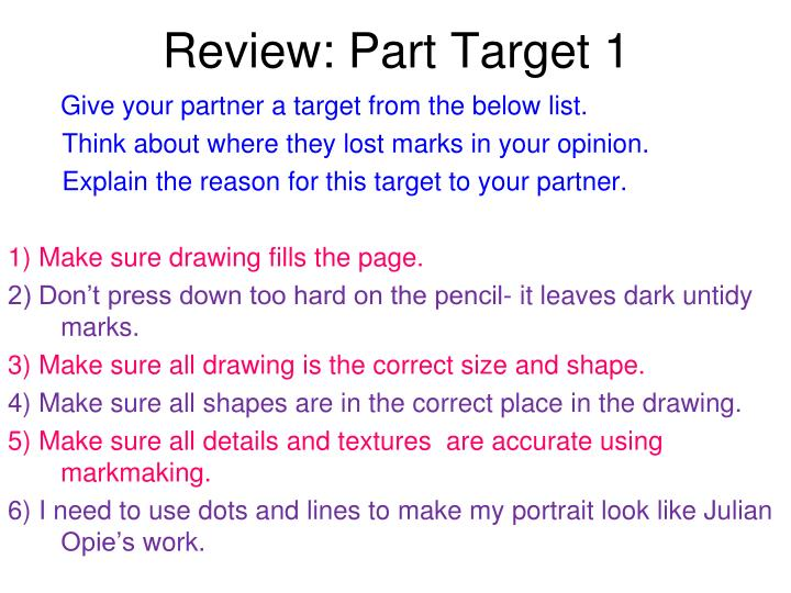 Review: Part Target 1