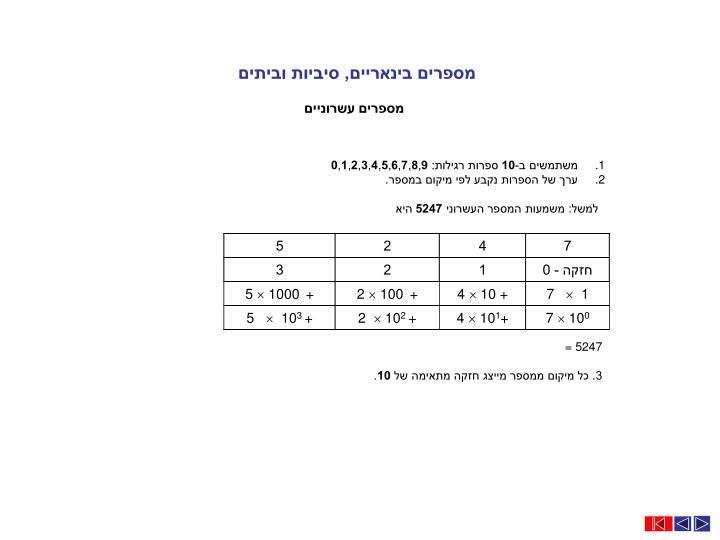 מספרים בינאריים, סיביות וביתים
