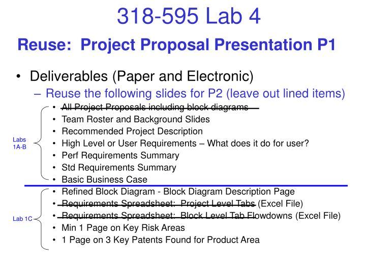 Reuse:  Project Proposal Presentation P1