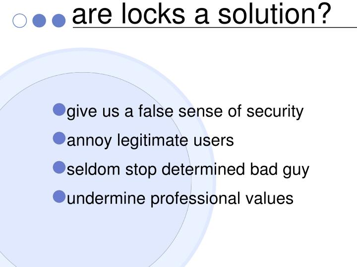 are locks a solution?