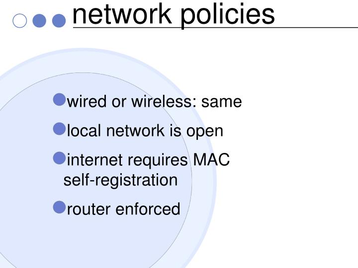 network policies