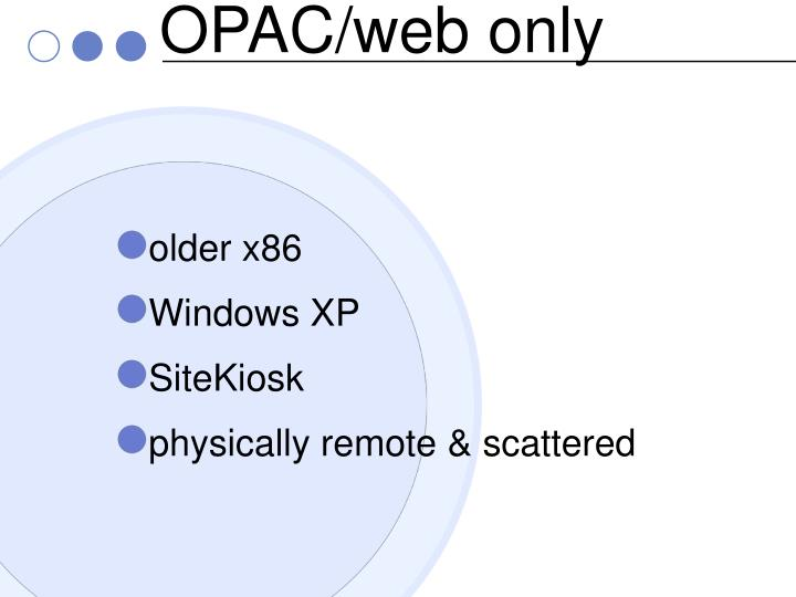 OPAC/web only