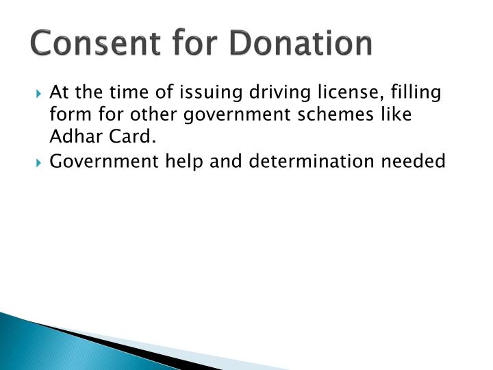 Consent for Donation