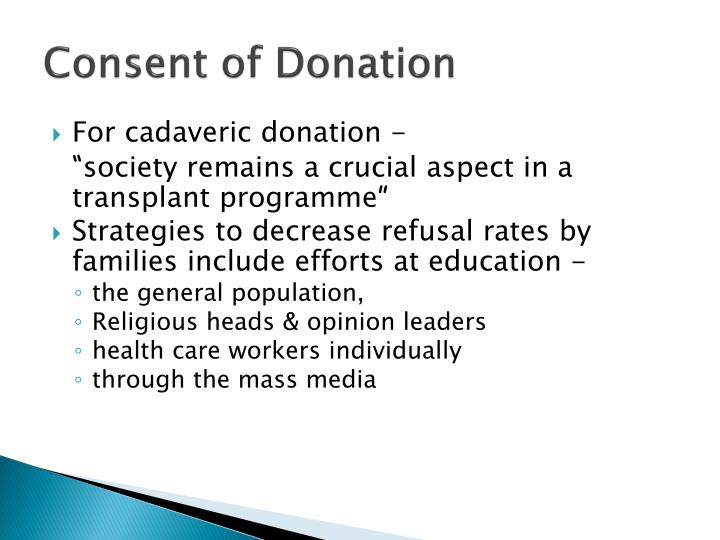 Consent of Donation