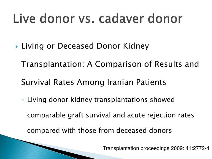 Live donor vs.