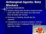 antianginal agents beta blockers2
