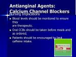 antianginal agents calcium channel blockers4
