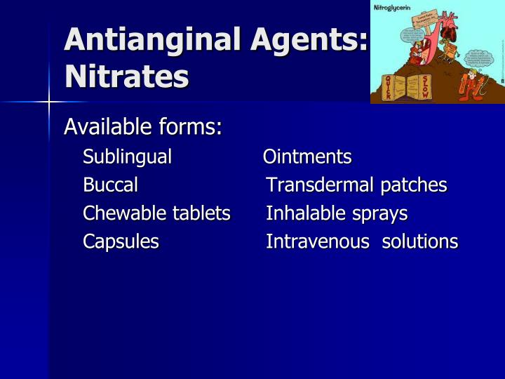 Antianginal Agents:  Nitrates