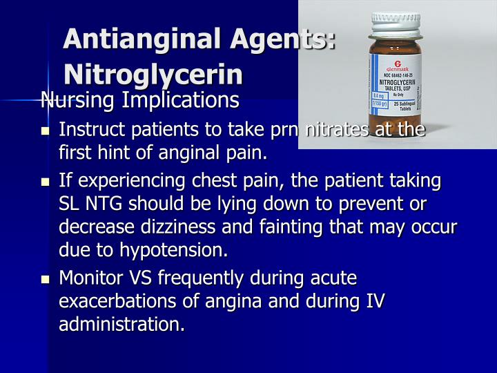 Antianginal Agents: Nitroglycerin