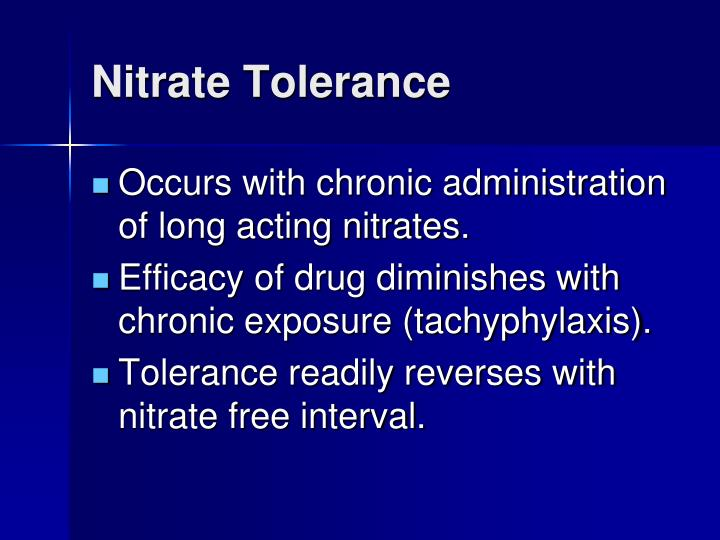 Nitrate Tolerance