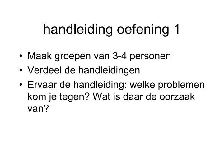 handleiding oefening 1