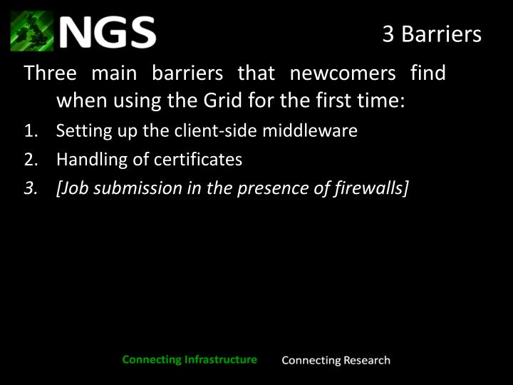 3 Barriers