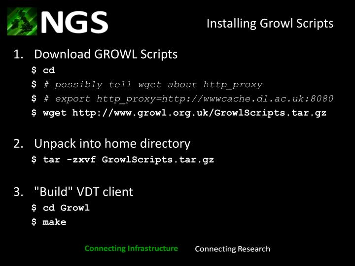 Installing Growl Scripts