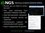 myproxy enabled gsisshd meg