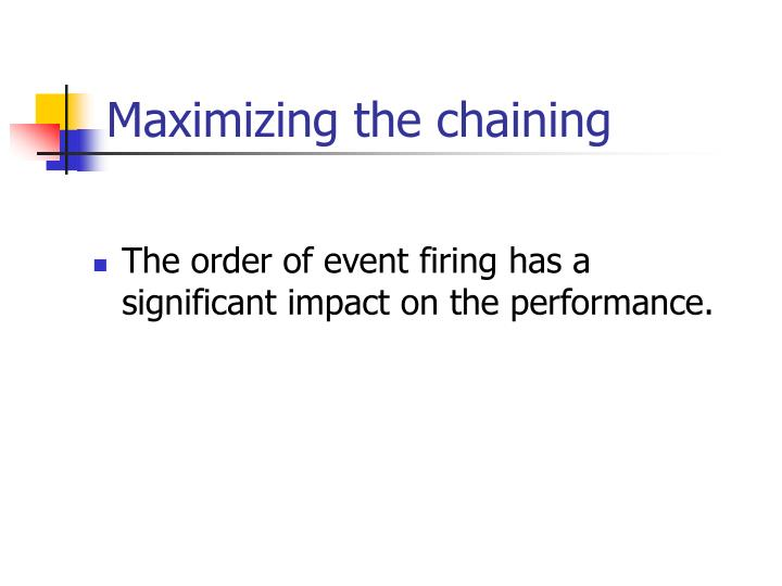 Maximizing the chaining