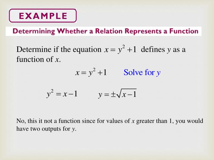 Determine if the equation                   defines