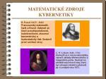 matematick zdroje kybernetiky