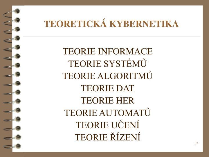 TEORETICKÁ KYBERNETIKA
