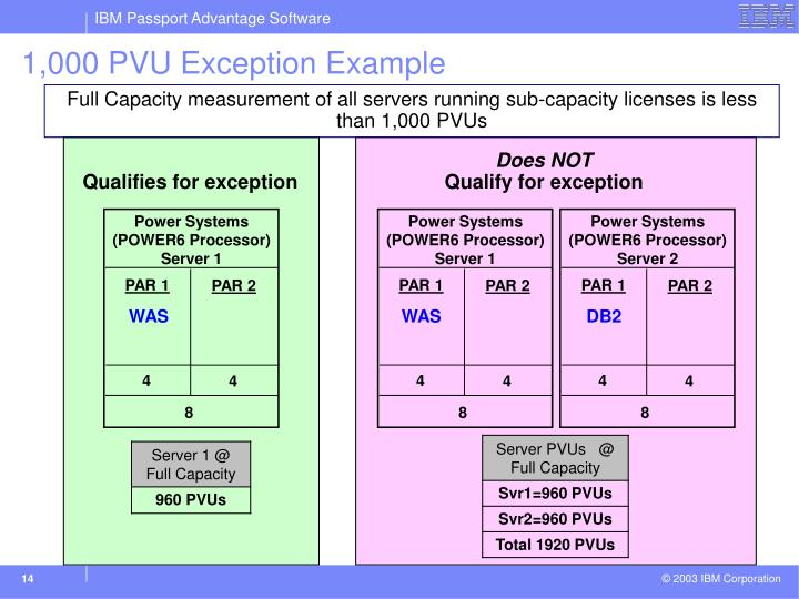 1,000 PVU Exception Example
