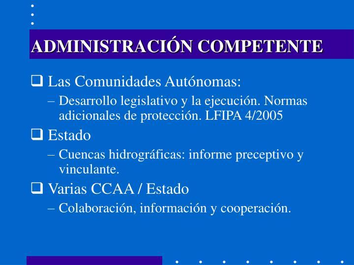 ADMINISTRACIÓN COMPETENTE